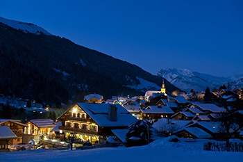 Village des Contamines de nuit