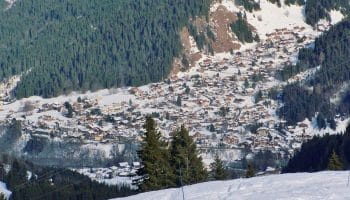 Village des Contamines Montjoie en hiver
